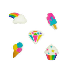Treats + Rainbow Sugar Toppers | www.bakerspartyshop.com