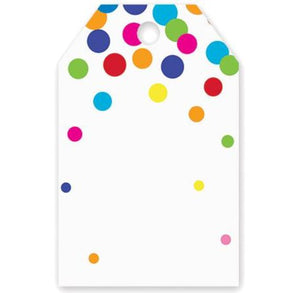 Rainbow Gift Tags: Polka Dot | www.bakerspartyshop.com