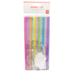 Bright Rainbow Treat Bags Kit | www.bakerspartyshop.com