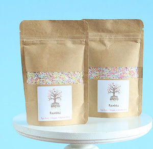 All Natural Sprinkles: Pastel Rainbow Jimmies | www.bakerspartyshop.com
