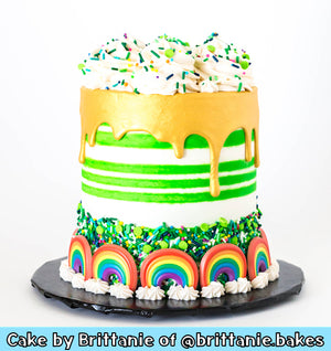 Rainbow Cupcake Topper Rings | www.bakerspartyshop.com