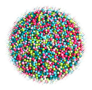 Rainforest Nonpareils Mix: Pink + Teal | www.bakerspartyshop.com