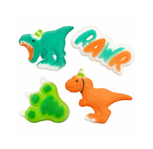 Party Dinosaur Sugar Toppers | www.bakerspartyshop.com