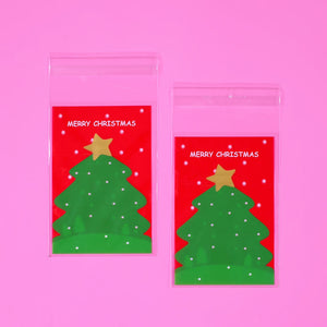 Mini Christmas Candy Bags | www.bakerspartyshop.com