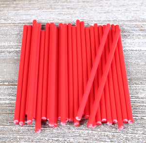 Red Lollipop Sticks: 4.5"