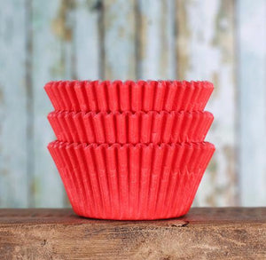 Red Cupcake Liners: Solid | www.bakerspartyshop.com