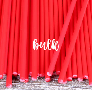 Bulk Red Lollipop Sticks: 6"