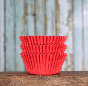 Bulk Red Cupcake Liners: Solid | www.bakerspartyshop.com