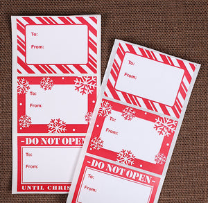 Red Christmas Stickers | www.bakerspartyshop.com