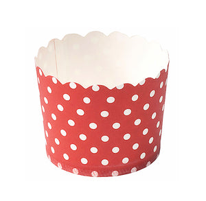 Red Baking Cups: Polka Dots | www.bakerspartyshop.com
