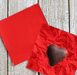 Red Foil Candy Wrappers | www.bakerspartyshop.com