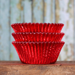 Bulk Foil Red Cupcake Liners | www.bakerspartyshop.com