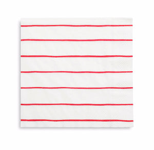 Striped Red Napkins: Large | www.bakerspartyshop.com