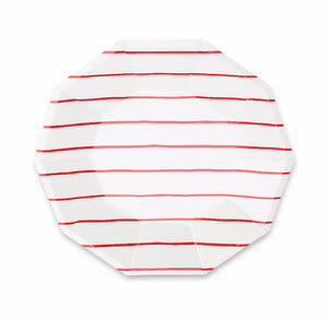 Striped Small Red Plates | www.bakerspartyshop.com