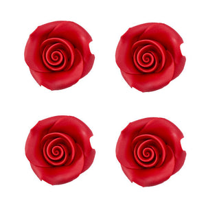 Edible Red Fondant Roses: 1.5"