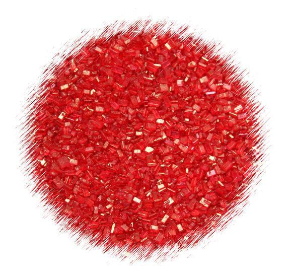 Red Sparkling Sugar | www.bakerspartyshop.com