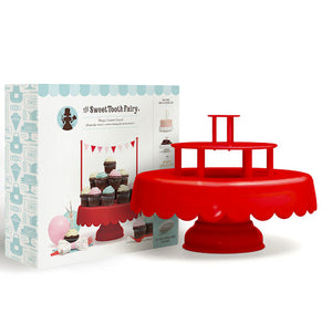 Sweet Tooth Fairy Cake Stand: Red | www.bakerspartyshop.com