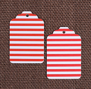 Red Gift Tags: Stripe | www.bakerspartyshop.com