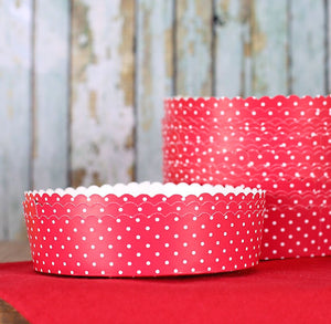 Small Red Tart Pans | www.bakerspartyshop.com