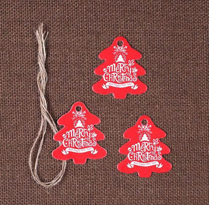 Christmas Tree Gift Tags: Red | www.bakerspartyshop.com