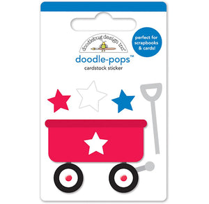 Large Red Wagon Sticker | www.bakerspartyshop.com