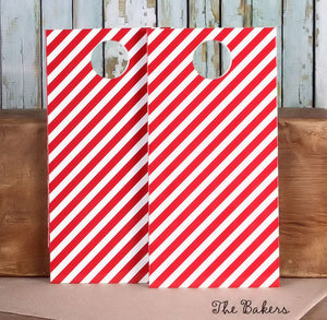 Red Gift Bags: Stripe | www.bakerspartyshop.com