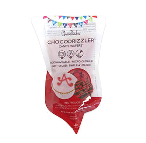 Chocodrizzler Mini Candy Wafers Pouch: Red | www.bakerspartyshop.com