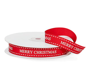 Red Merry Christmas Ribbon: 25 Yards | www.bakerspartyshop.com