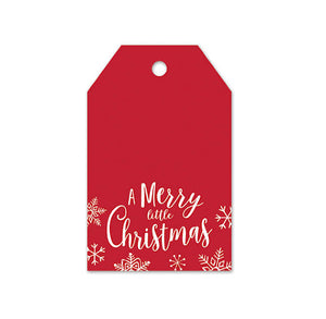 Christmas Gift Tags: Red with Merry Christmas | www.bakerspartyshop.com