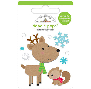 Large Reindeer Sticker with Squirrel | www.bakerspartyshop.com