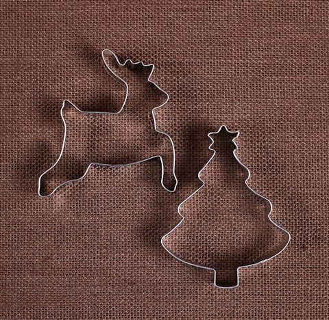 Christmas Tree & Reindeer Cookie Cutters | www.bakerspartyshop.com