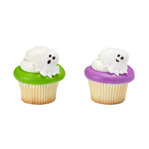 Ghost Cupcake Topper Rings | www.bakerspartyshop.com