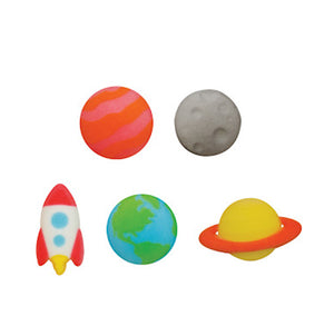 Outer Space Sugar Toppers | www.bakerspartyshop.com