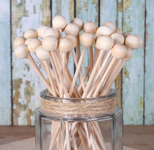 Wooden Rock Candy Sticks | www.bakerspartyshop.com