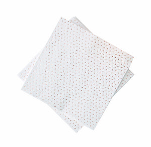 Rose Gold Napkins: Mini Polka Dot | www.bakerspartyshop.com