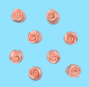 Edible Rose Gold Fondant Roses: .5"