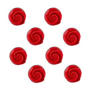 Edible Red Fondant Rose: .5"