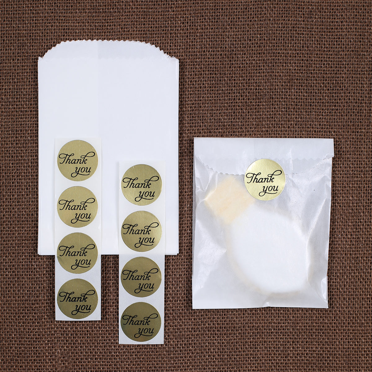 mini gold thank you favor bag kit gold wedding favor bags bakers
