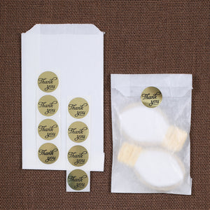 Small Gold Thank You Favor Bag Kit | www.bakerspartyshop.com