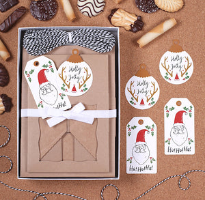 Christmas Cookie Box Kit: Santa | www.bakerspartyshop.com