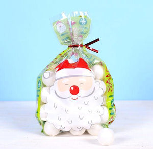 Christmas Cellophane Bag Kit: Santa | www.bakerspartyshop.com