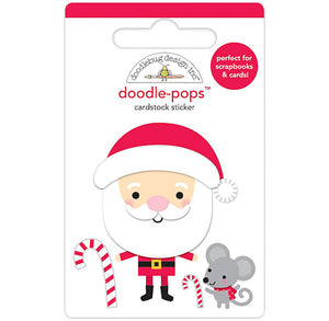 Large Santa Sticker with Mouse | www.bakerspartyshop.com