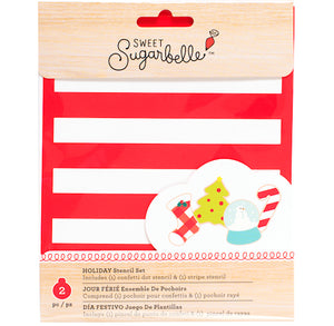 Sweet Sugarbelle Christmas Cookie Stencil Set | www.bakerspartyshop.com