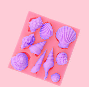Seashell Fondant Mold: Small | www.bakerspartyshop.com