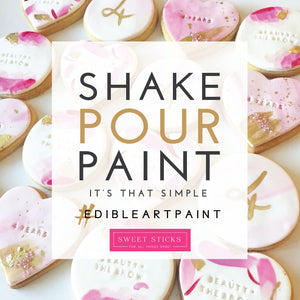 Metallic Rose Gold Edible Art Paint | www.bakerspartyshop.com