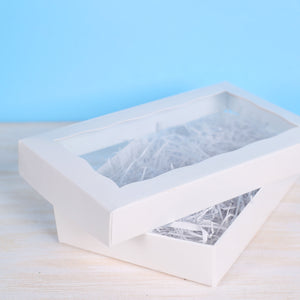 White Cookie Box: Two Piece | www.bakerspartyshop.com