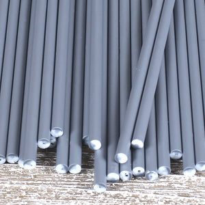 Silver Lollipop Sticks: 6"