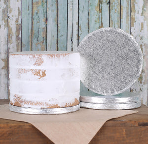 6 Inch Silver Foil Cake Board: Thick | www.bakerspartyshop.com