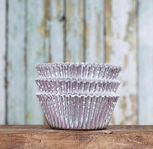 Bulk Foil Silver Cupcake Liners | www.bakerspartyshop.com