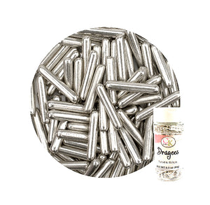 Silver Rod Dragees | www.bakerspartyshop.com